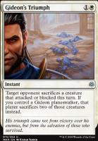 War of the Spark Foil: Gideon's Triumph