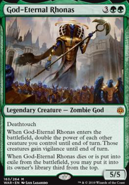 War of the Spark Foil: God-Eternal Rhonas