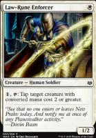 War of the Spark Foil: Law-Rune Enforcer