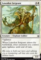 War of the Spark Foil: Loxodon Sergeant