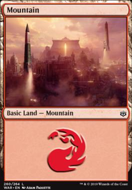 War of the Spark Foil: Mountain (260 B)