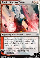 War of the Spark Foil: Nahiri, Storm of Stone