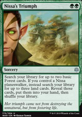 War of the Spark Foil: Nissa's Triumph