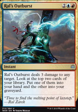 War of the Spark Foil: Ral's Outburst