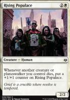 War of the Spark Foil: Rising Populace