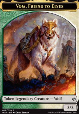 War of the Spark: Voja, Friend to Elves Token