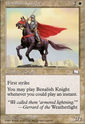 Weatherlight: Benalish Knight