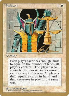 World Championships: Balance (New York City 1996 (Eric Tam) - Not Tournament Legal)