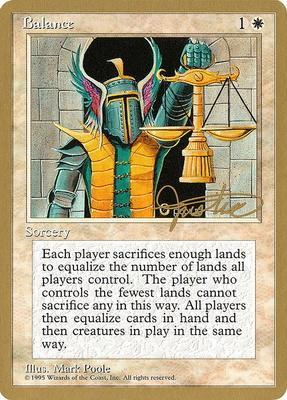 World Championships: Balance (New York City 1996 (Mark Justice) - Not Tournament Legal)