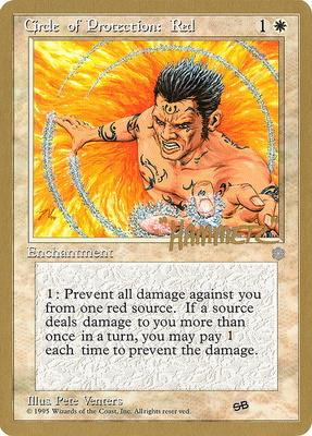 World Championships: Circle of Protection: Red (New York City 1996 (Shawn Regnier - Sideboard) - Not Tournament Legal)