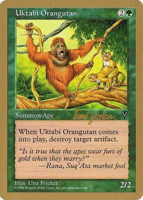 World Championships: Uktabi Orangutan (Seattle 1997 (Svend Geertsen) - Not Tournament Legal)