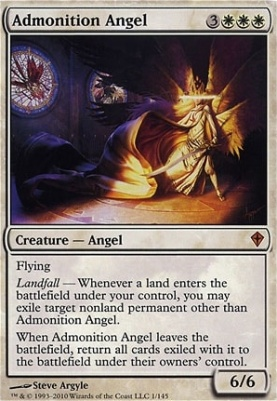 Worldwake Foil: Admonition Angel