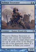 Worldwake Foil: Halimar Excavator