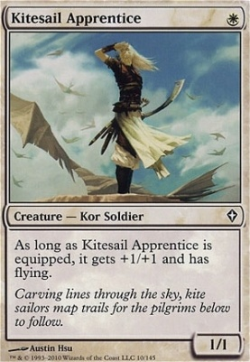 4 Kitesail Apprentice ~ White Worldwake Mtg Magic Common 4x x4