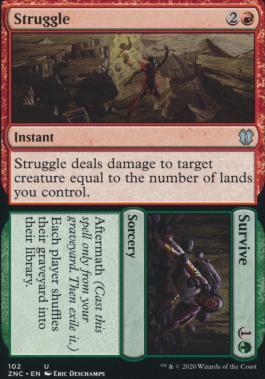 Zendikar Rising Commander Decks: Struggle // Survive