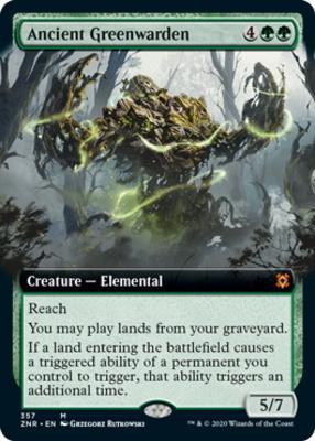 Zendikar Rising Variants: Ancient Greenwarden (Extended Art)