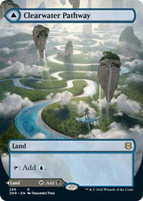 Zendikar Rising Variants: Clearwater Pathway (Borderless)