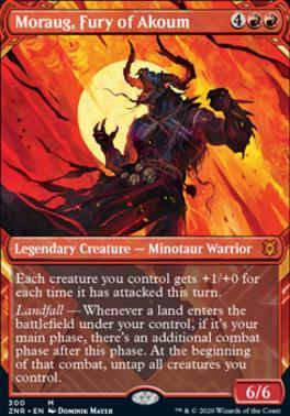 Zendikar Rising Variants: Moraug, Fury of Akoum (Showcase)