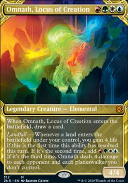 Zendikar Rising Variants: Omnath, Locus of Creation (Showcase)