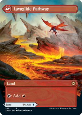 Zendikar Rising Variants: Riverglide Pathway (Borderless)