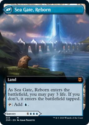 Zendikar Rising Variants: Sea Gate Restoration (Extended Art)