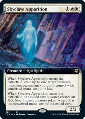 Zendikar Rising Variants: Skyclave Apparition (Extended Art)