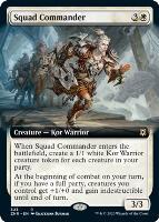 Zendikar Rising Variants Foil: Squad Commander (Extended Art)