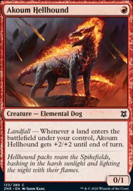 Zendikar Rising: Akoum Hellhound