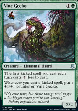 Zendikar Rising: Vine Gecko