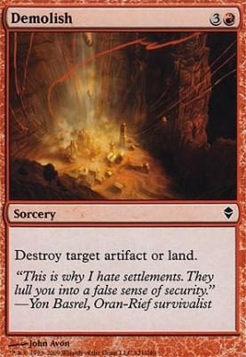 Zendikar Foil: Demolish