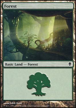 Zendikar: Forest (246 A - Non-Full Art)