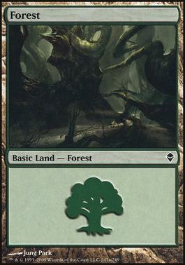 Zendikar: Forest (247 B - Non-Full Art)