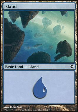 Zendikar: Island (234 A - Non-Full Art)