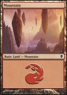 Zendikar: Mountain (242 A - Non-Full Art)