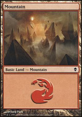 Zendikar: Mountain (243 B - Non-Full Art)