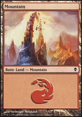 Zendikar: Mountain (244 C - Non-Full Art)