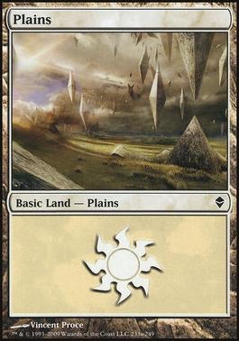 Zendikar: Plains (233 D - Non-Full Art)