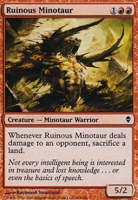 Zendikar: Ruinous Minotaur