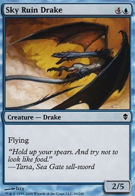 Zendikar Foil: Sky Ruin Drake