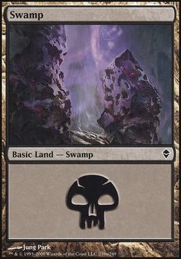 Zendikar: Swamp (239 B - Non-Full Art)