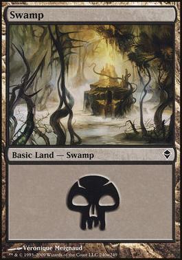 Zendikar: Swamp (240 C - Non-Full Art)