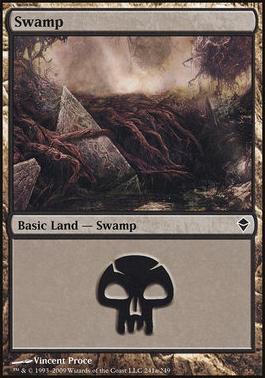 Zendikar: Swamp (241 D - Non-Full Art)