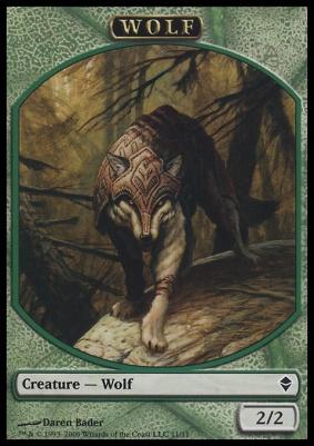Zendikar: Wolf Token